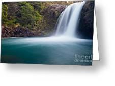 Tawhai Falls In Tongariro Np New Zealand Greeting Card