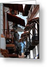 Taxco Balconies Greeting Card