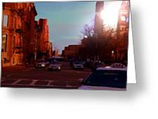 Taxi - Boston Greeting Card