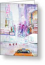 Taxi Eight Show Time Greeting Card