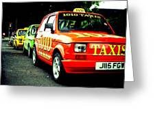 Taxi Line Greeting Card