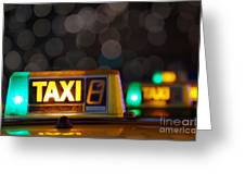 Taxi Signs Greeting Card