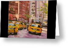 Taxi Taxi Greeting Card