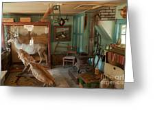 Taxidermy At The Holzwarth Historic Site Greeting Card