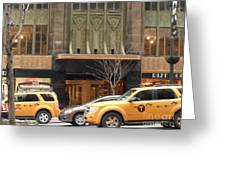 Taxis In The City Greeting Card