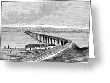 Tay Rail Bridge, 1879 Greeting Card