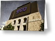 Tcu Stadium Entrance Greeting Card