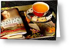 Tea And A Read Greeting Card