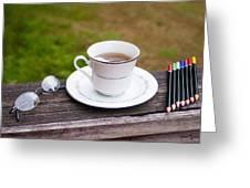 Tea And Art Greeting Card