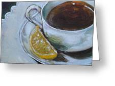 Tea And Lemon Greeting Card
