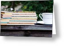 Tea And Reading Greeting Card
