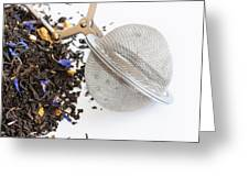 Tea Ball Infuser And Scented Tea Greeting Card