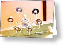 Tea Cup Chandelier Greeting Card