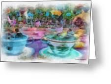 Tea Cup Ride Fantasyland Disneyland Pa 01 Greeting Card
