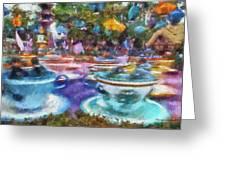 Tea Cup Ride Fantasyland Disneyland Pa 02 Greeting Card