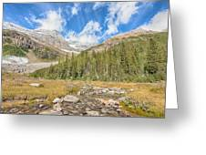 Tea House View - Lake Louise - Canada Greeting Card
