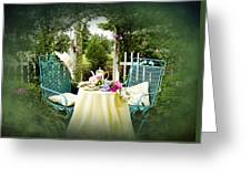Tea In My Garden Greeting Card