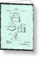 Tea Kettle Patent 1916 Greeting Card