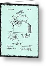 Tea Kettle Patent 1923 Greeting Card