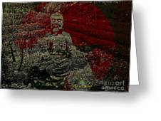 Tea Meditation Greeting Card by Peter R Nicholls