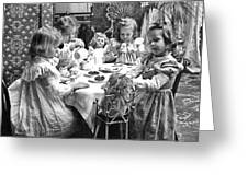 Tea Party, C1902 Greeting Card