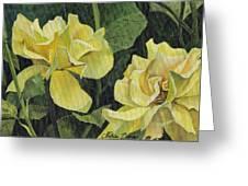 Tea Rose Greeting Card by Natasha Denger