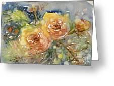 Tea Roses Greeting Card