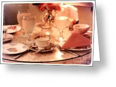 Tea Time Greeting Card by Carol Groenen