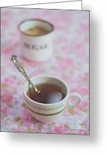 Tea Time In Pink Greeting Card