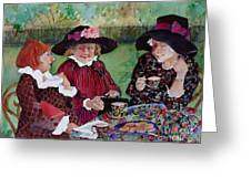 Tea With The Girls Greeting Card