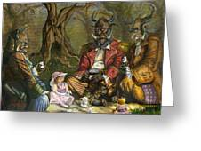 Tea With The Ogres Greeting Card