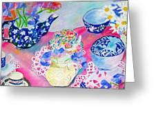 Teacups Greeting Card