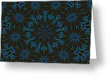 Teal And Brown Floral Abstract Greeting Card