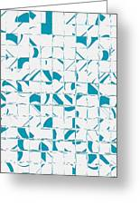 Teal Glyphs  Greeting Card