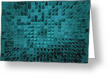 Teal Quilt Greeting Card
