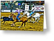 Team Ropers Greeting Card