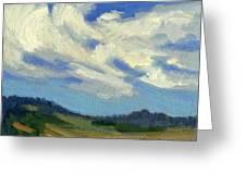Teanaway Passing Clouds Greeting Card