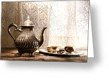 Teatime Greeting Card by Olivier Le Queinec