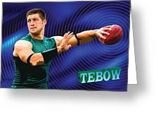 Tebow Greeting Card by John Keaton