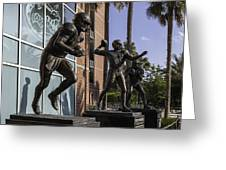 Tebow Spurrier And Wuerffel Uf Heisman Winners Greeting Card