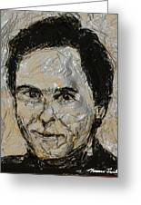 Ted Bundy In Black And White Greeting Card