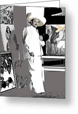 Ted Degrazia Painting Mural With Brush Mexico City C.1941-2013 Greeting Card