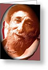 Ted Degrazia Portrait By Henry Redl Circa 1980-2013 Greeting Card