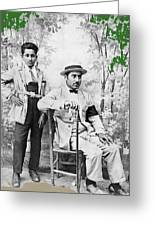 Ted Degrazia With  Uncle  Gregorio Circa 1920's-2013 Greeting Card