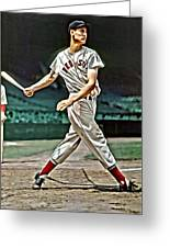Ted Williams Painting Greeting Card