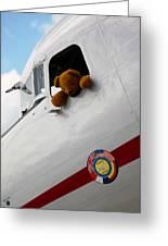 Teddy Bear Pilot Greeting Card