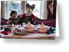 Teddy Bear Tea Party Greeting Card