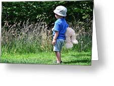 Teddy Bear Walk Greeting Card