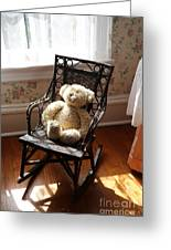 Teddy In Old Fashioned Rocker Greeting Card
