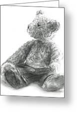 Teddy Study Greeting Card